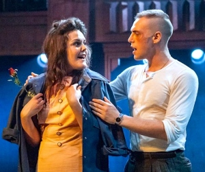 Dogfight 6 Laura Jane Matthewson (Rose Fenney)  Jamie Muscato (Eddie Birdlace) Photo Darren Bell